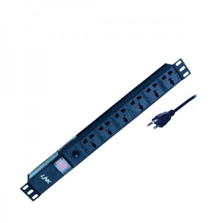PDU 6 Universal Outlet (Lighting SW+Protection LED)