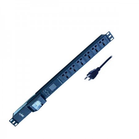 PDU 6 Universal Outlet (Circuit Breaker 16A+V-A)