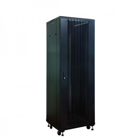 "LINK 19"" CURVE-WAVE RACK 42U, BLACK (80x110x207 cm.)"
