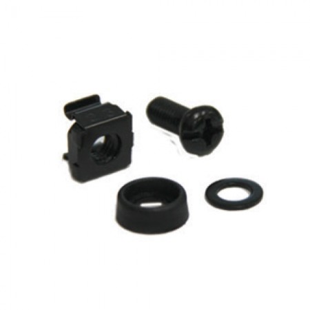 ชุดน็อต SCREW M6+ CAPTIVE NUT M6+Plastic washer + Metal gasket (10 ชุด/แพ็ค)(Black Color)