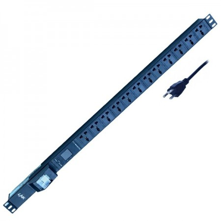 PDU 12 Universal Outlet (Circuit Breaker 16A+V-A)